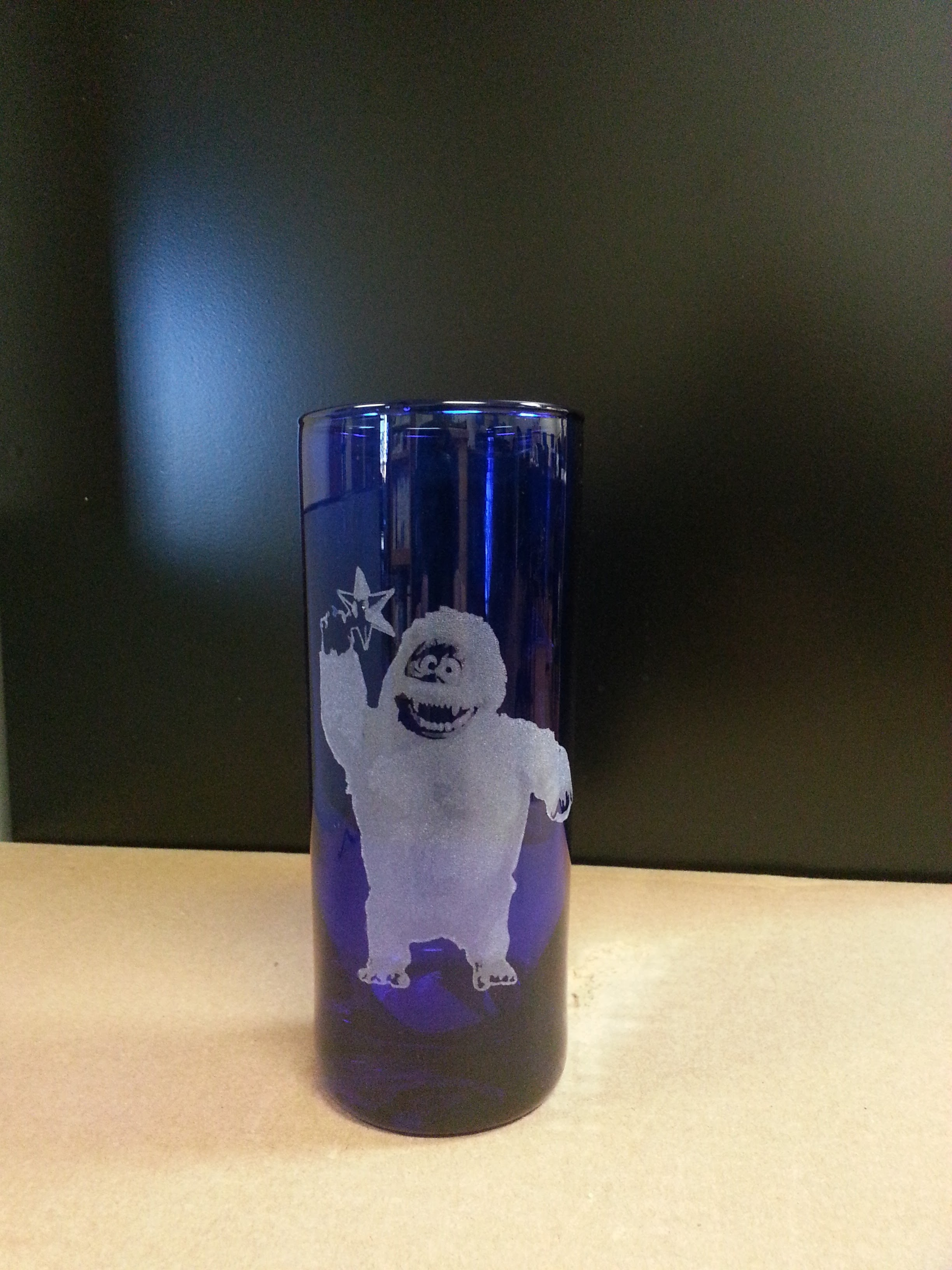 Bumble glass etch