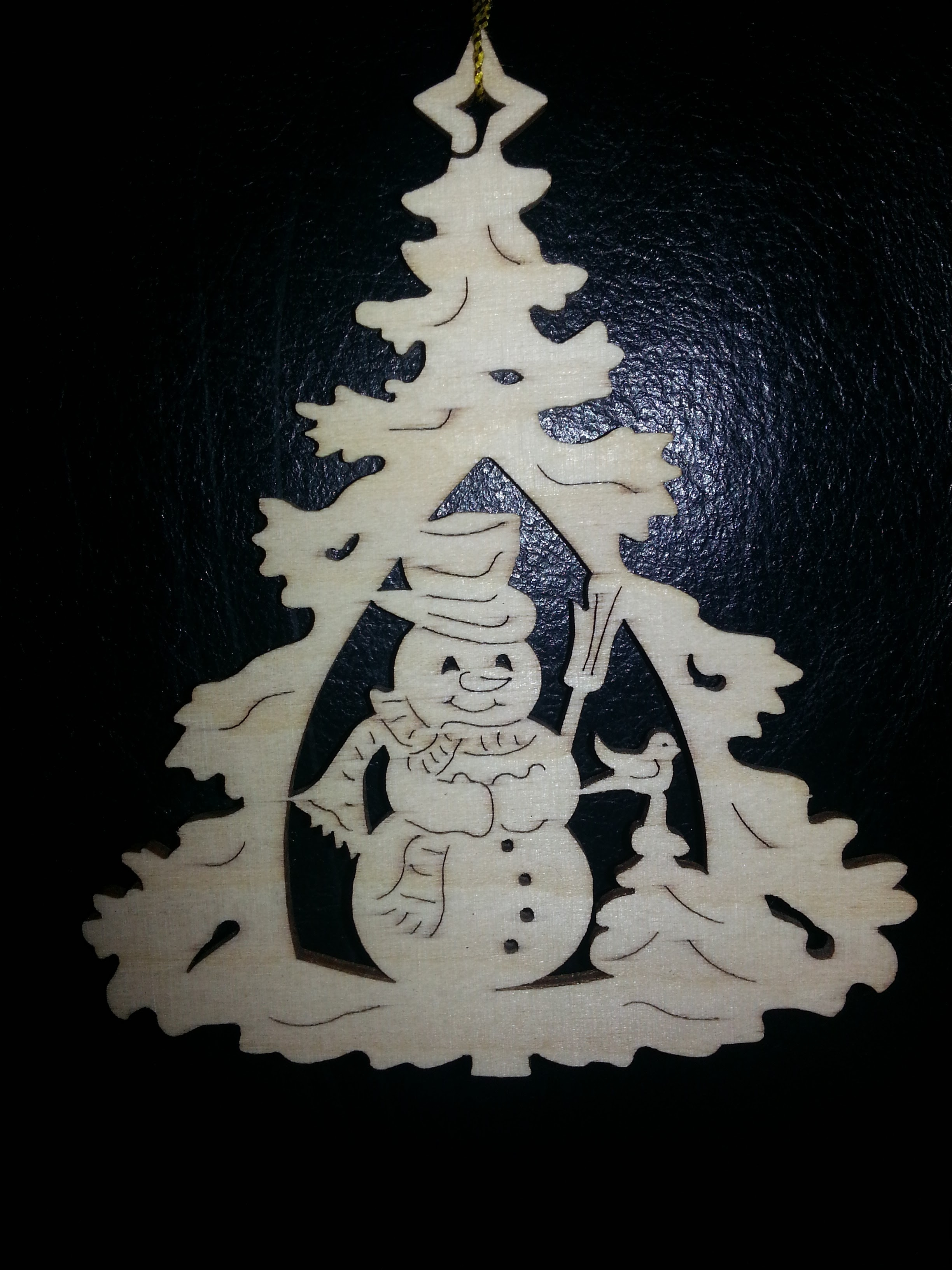 laser cut Christmas tree decoration
