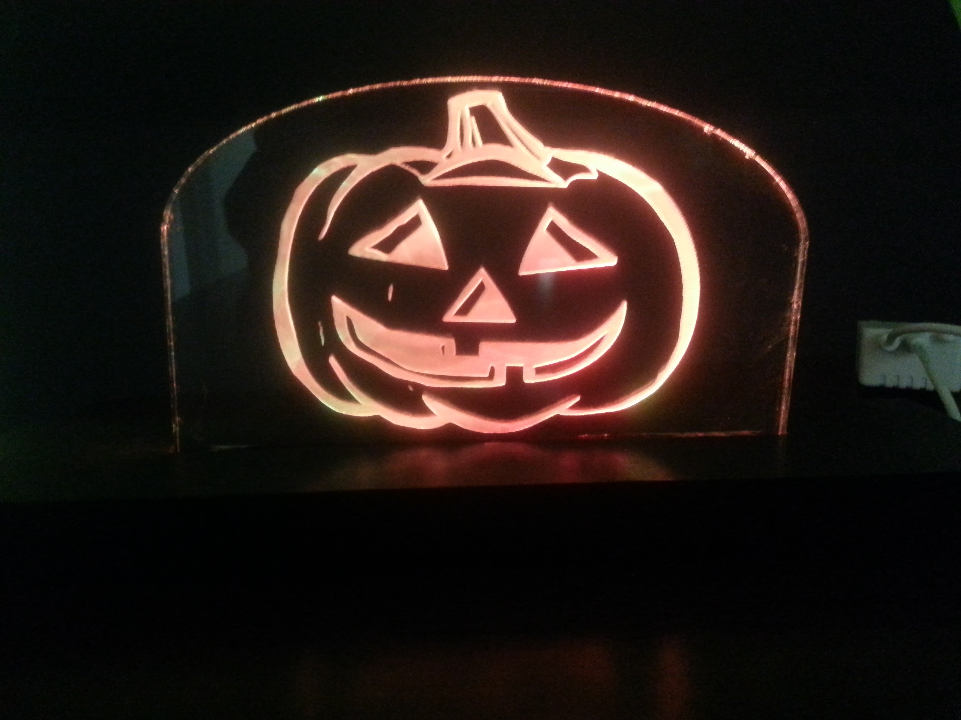 LED floating pumpkin