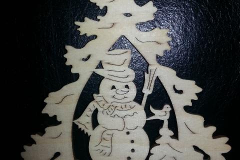 laser cut Christmas tree decoration
