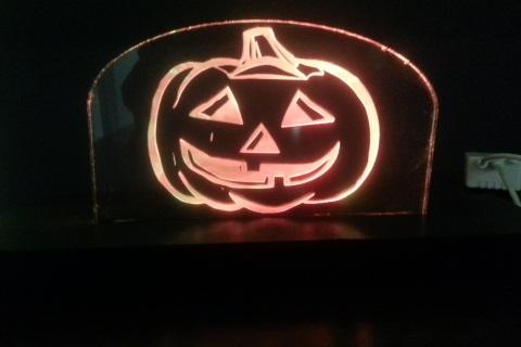 LED floating pumpkin