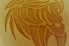 Medallion wood etch