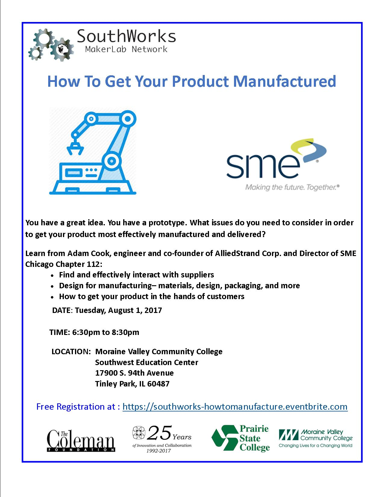 How To Get Your Product Manufactured – SouthWorks Maker Lab